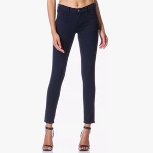 FRAME Le Color Crop in Deep Blue Dive jeans denim